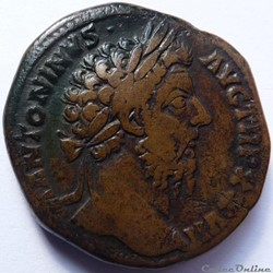 Marc-Aurèle 172-173/Sesterce/Rome/RIC II...