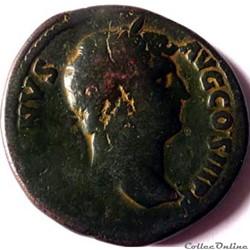 Hadrien 134-138/Sesterce/Rome/RIC II 743
