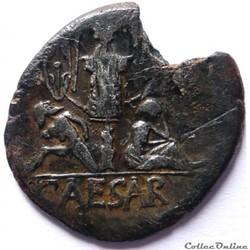 monnaie antique av jc ap romaine gens julia jules cesar 46 45 denier venus