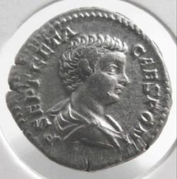 Geta (as Caesar) AR Denarius