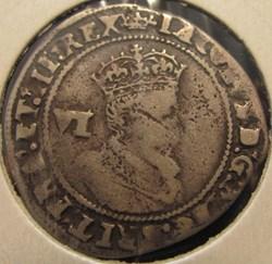 James I, 1606, sixpence