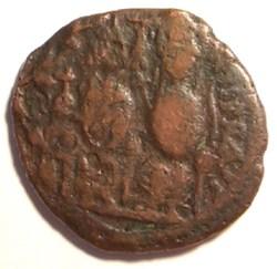 Justin II 569-570AD, Ae Folis