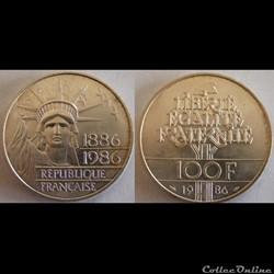 100 francs Liberté (Statue de la) 1986