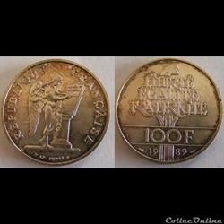 100 francs Droits de l'Homme 1989