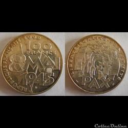 100 francs 8 Mai 1945 1995