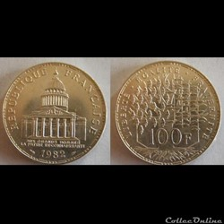 100 francs Panthéon 1982