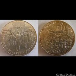 100 francs Libération de Paris 1994