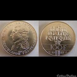 100 francs Égalité - La Fayette 1987