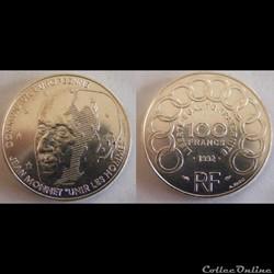 100 francs Jean Monnet 1992