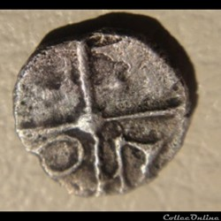 monnaie antique gauloise saves manque obole de style languedocien