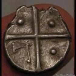 monnaie antique gauloise saves indeterminee drachme de style languedocien