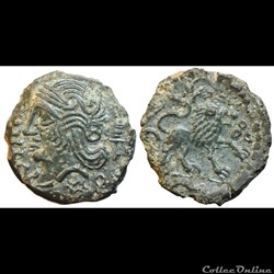 Bronze  Veliocasses au lion