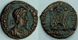 RIC.55b2 Flavius Victor (AE4, Spes Roman...