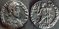 RIC.1228c Honorius (silique, Virtvs Roma...