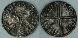 Aethelred II (long cross penny, Canterbu...