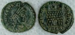 RIC.55a1 Magnus Maximus (AE4, Spes Roman...