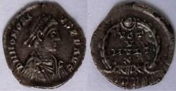 RIC.26 Honorius (silique, Vot V Mvlt X)