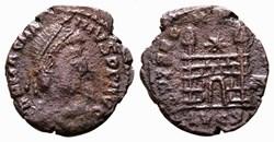RIC.36a Magnus Maximus (AE4, Spes Romano...