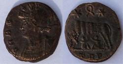 RIC.553 Rome (AE3, Trèves, couronne, TRP...