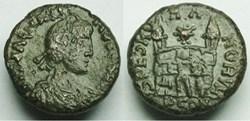 RIC.29a Magnus Maximus (AE4, Spes Romano...