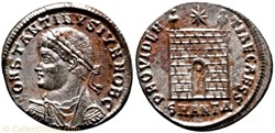 RIC.73 Constantin II (AE3, Providentiae ...