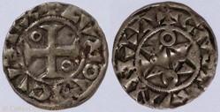 Louis VII (denier, Mantes, 1er type)