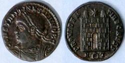 RIC.289 Constantin II (AE3, Providentiae...