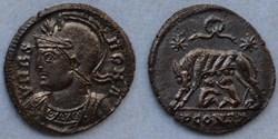 RIC.373 Rome (AE3, Arles, couronne, PCON...