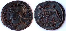 RIC.368 Rome (AE3, Arles, rameau, PCONST...