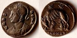 RIC.343 Rome (AE3, Arles, SCONST)