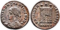 RIC.74 Constance II (AE3, Providentiae C...