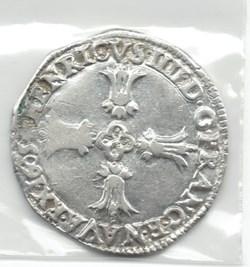 Henri IV, quart d'écu croix feuillue de ...