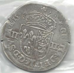 Henri IV, quart d'écu de Béarn 1592 Morl...