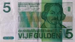 Billet de 5 gulden néerlandais