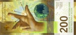 Billet de 200 francs suisse