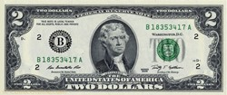 Billet de 2 dollars USA