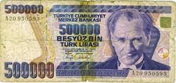 Billet de 500000 livres turc