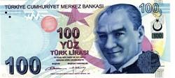 Billet de 100 livres turc