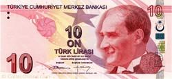 Billet de 10 livres turc