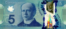 Billet de 5 dollars canadien