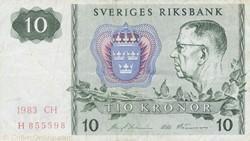 Billet de 10 couronnes suédois