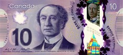 Billet de 10 dollars canadien