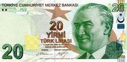 Billet de 20 livres turc