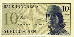 Billet de 10 sen indonésien