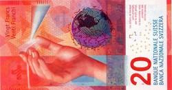 Billet de 20 francs suisse