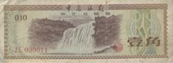 Billet de 10 fen chinois