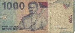 Billet de 1000 roupies indonésien