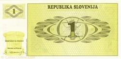 Billet de 1 tolar slovène