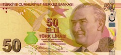 Billet de 50 livres turc