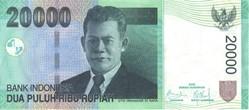 Billet de 20000 roupies indonésien